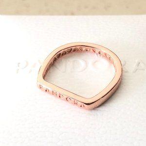 Pandora Logo Bar Stacking Ring Rose #189048C00